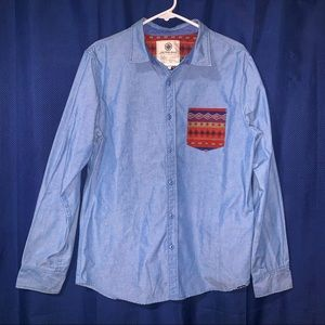 On The Byas Button Down Shirt Size Medium. Mens
